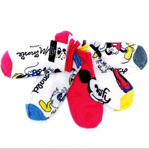 🆕 Disney Mickey Minnie Mouse Goofy Donald Socks
